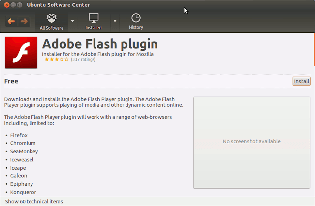 instalalre flash player ubuntu