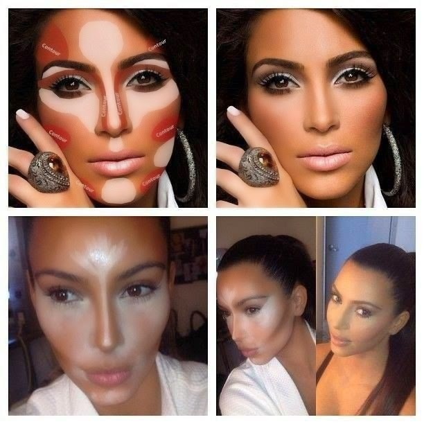 contornear el rostro Kim Kardashian