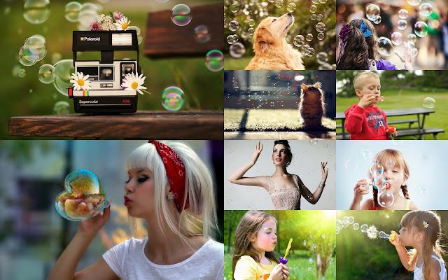 Jugando con Burbujas de Jabon Imagenes de Burbugas