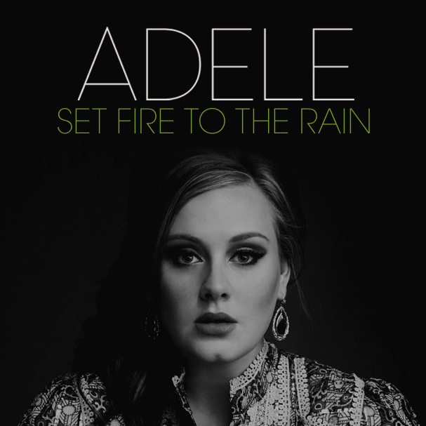 adele, set fire to the rain, cover, copertina