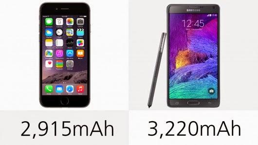 مقارنة بين العملاقين iPhone 6 Plus و Galaxy Note 4