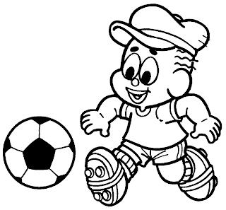 Desenhos Para Colori muleque bom de bola  desenhar