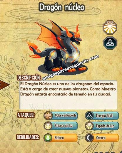 imagen de las caracteristicas del  dragon nucleo
