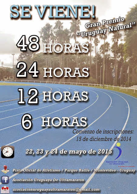 Ultramaratón de 48 horas en pista (Montevideo, 22a24/may/2015)
