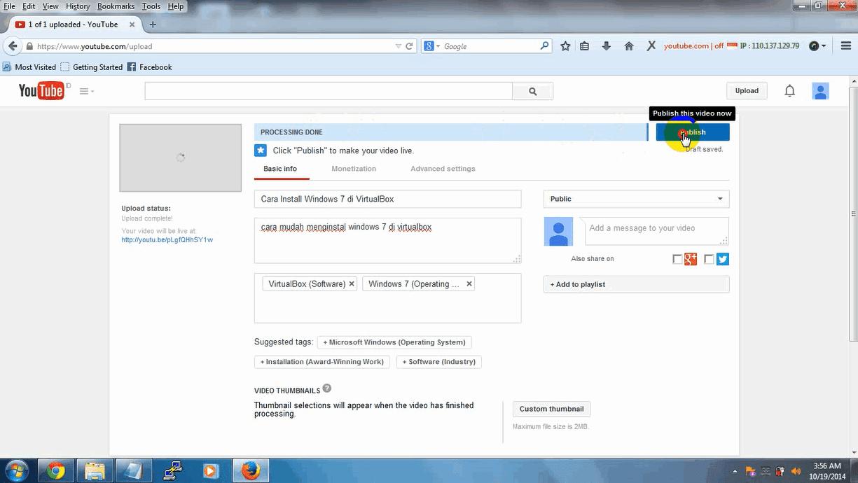 Cara Mudah Upload atau Memasukan Video ke Youtube