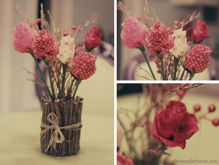 Поделки своими руками букеты цветов фото