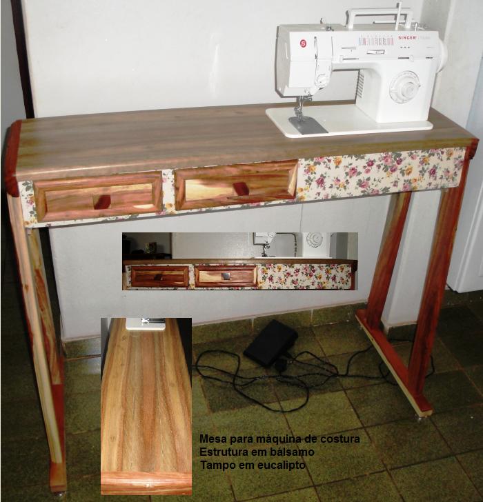 Luciano martins marcenaria mesa para m quina de costura - Mesas para costura ...