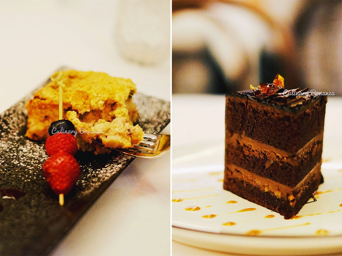 Left: Apple Banana Cranberry Crumble | Right: Chocolate Devil Cake (www.culinarybonanza.com)
