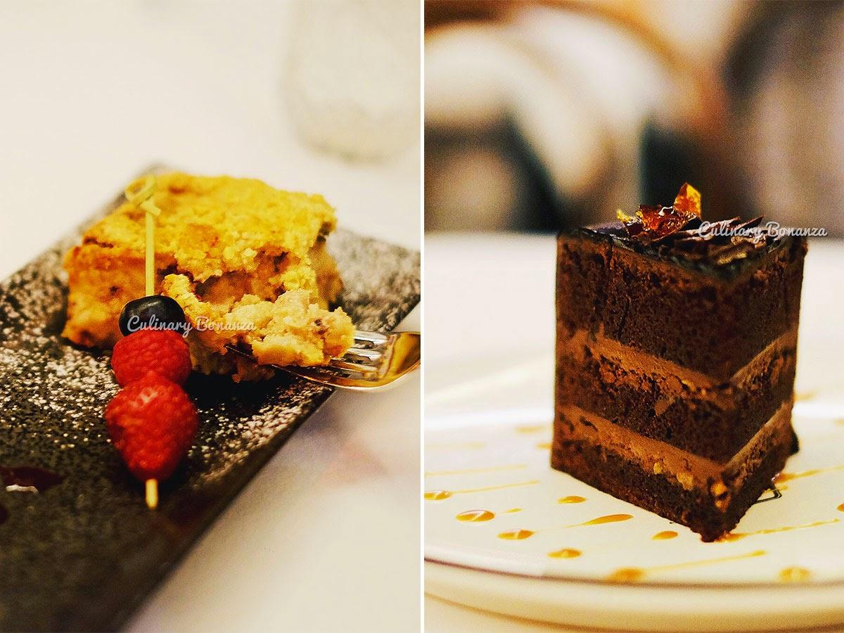 Left: Apple Banana Cranberry Crumble   Right: Chocolate Devil Cake (www.culinarybonanza.com)