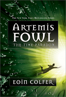 Green Cover of The Time Paradox, the third book in Artemis Fowl series by Eoin Colfer
