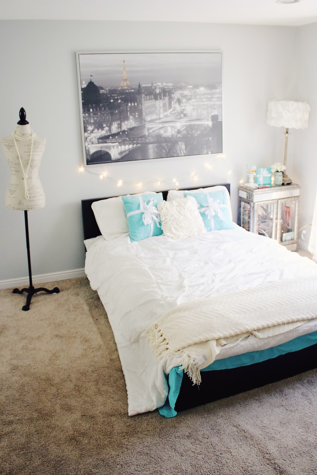 Tiffany & Co Themed Bedroom Tour! - Global Fashion Gal