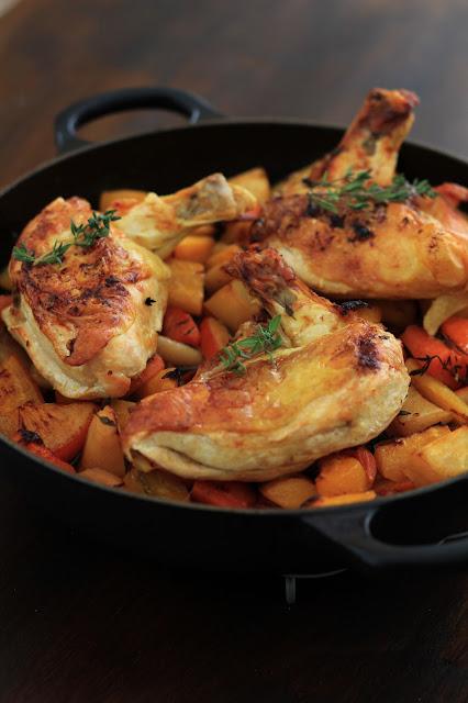 Suprèmes de poulet à l'orange et chorizo