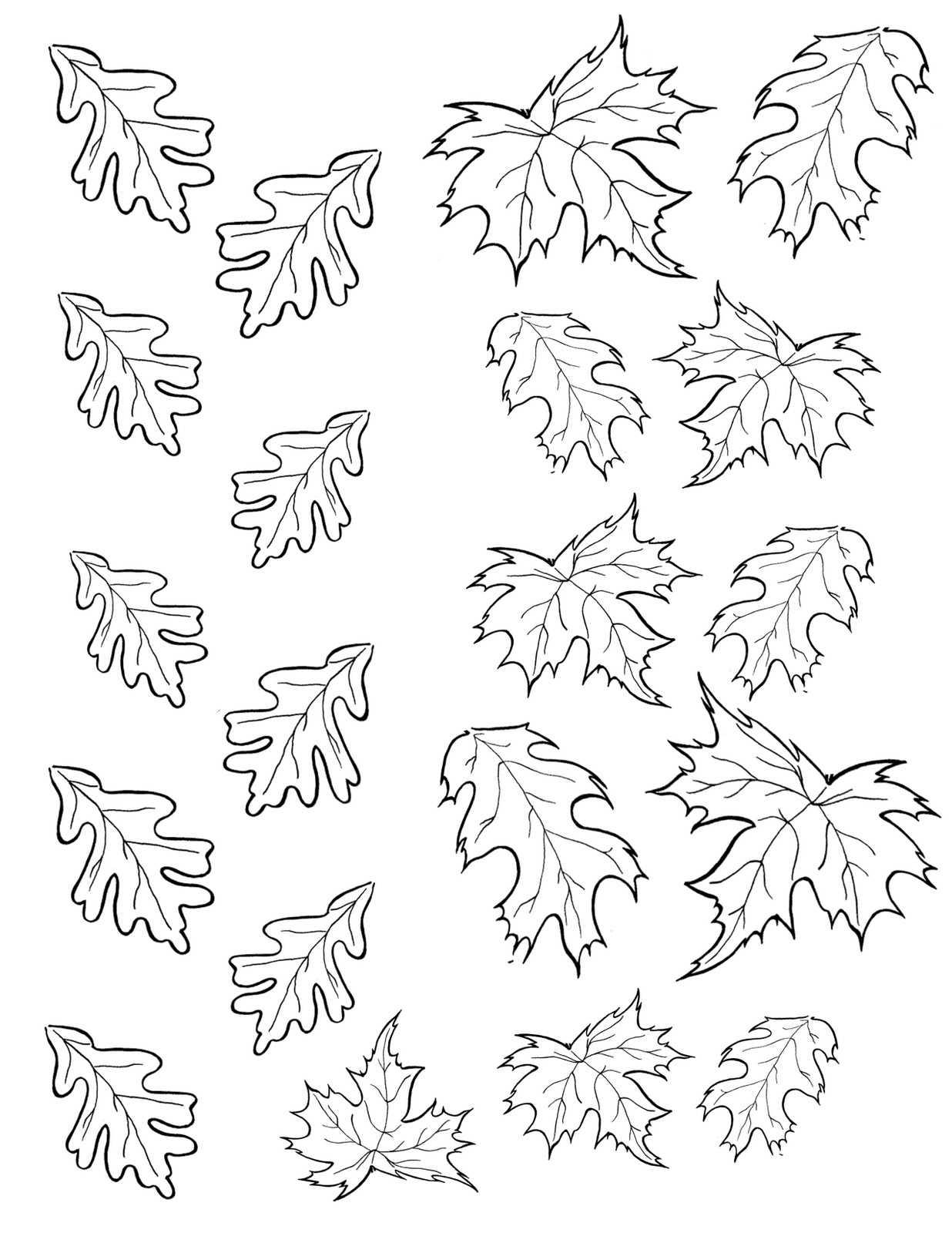 Smart image within fall leaf template printable