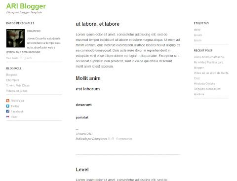 Ari Blogger Theme
