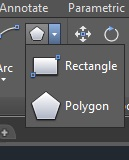 Perintah polygon pada AutoCAD 2015.