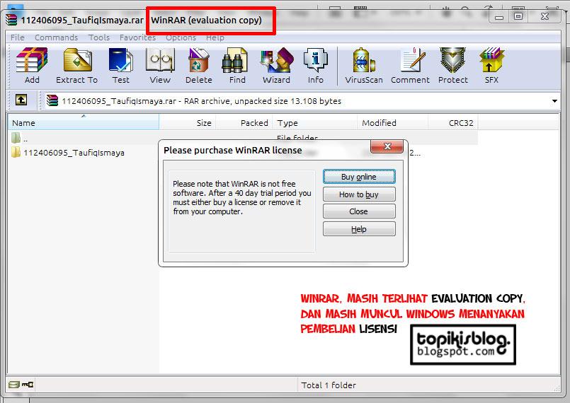 Taufiq Ismaya Blog: Cara menghilangkan Evaluation Copy