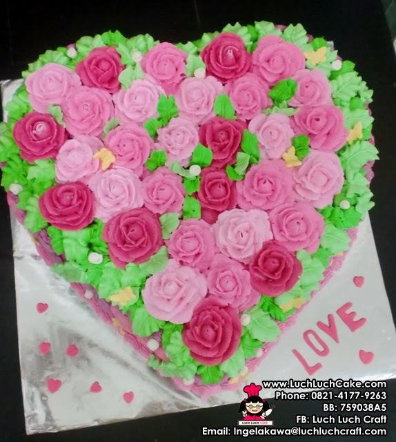 Jual kue tart bentuk hati valentine surabaya - sidoarjo