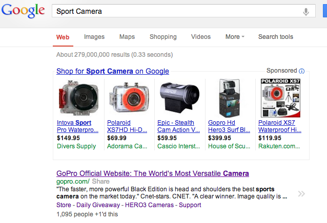 Search Engine Optimization, SEO, and GoPro