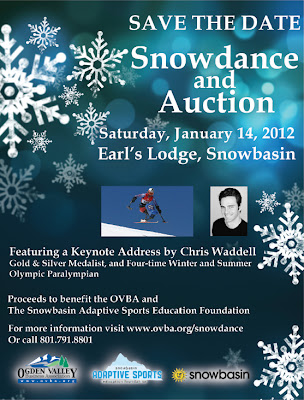 Chris Waddell to Speak at Snowdance and Auction, Snowbasin, 1/14/2012