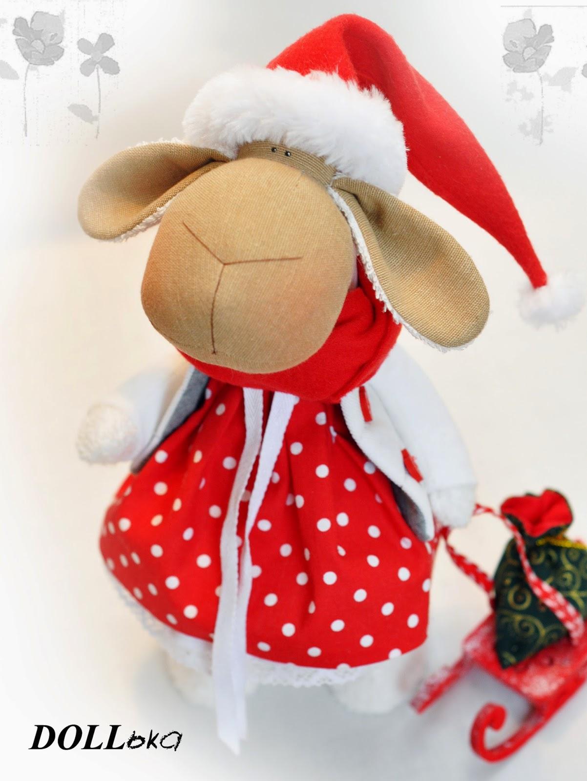 овечка новогодняя