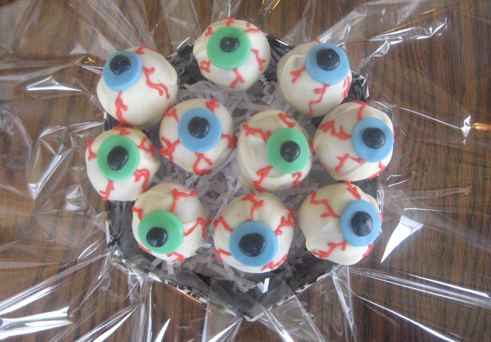 Let S Get Caking Creepy Eyeball Cake Pops