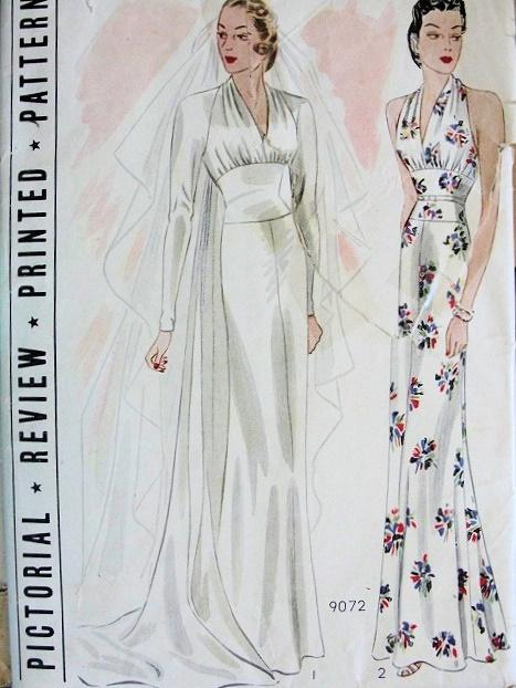 The wedding blog designer so vintage patterns for Vintage wedding dress patterns free