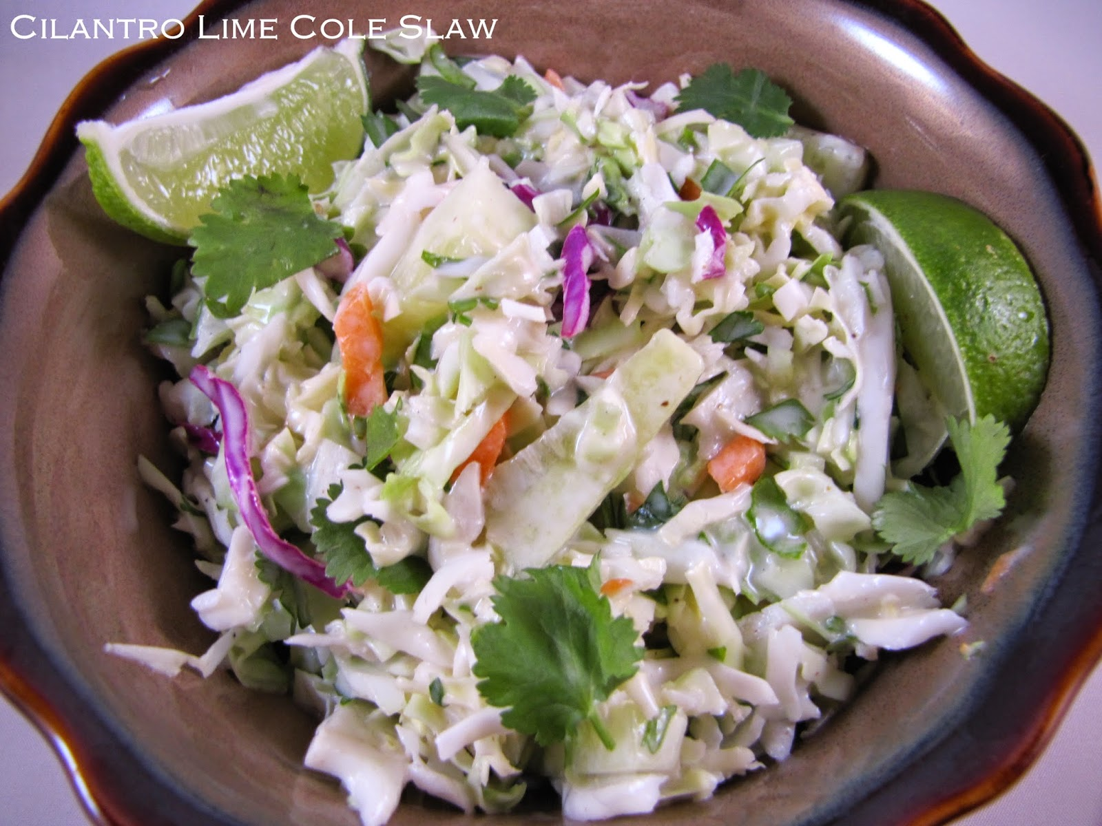 Big Mama's Home Kitchen: Cilantro Lime Cole Slaw