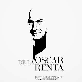 Oscar de la Renta, portrait by Kai Karenin