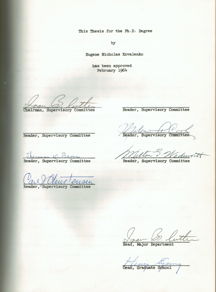 Brown university dissertation signature page