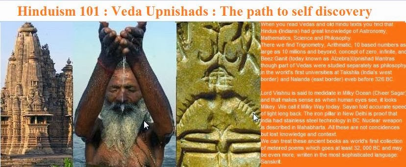 Hinduism 101: Vedas and Upnishads : The path to self discovery