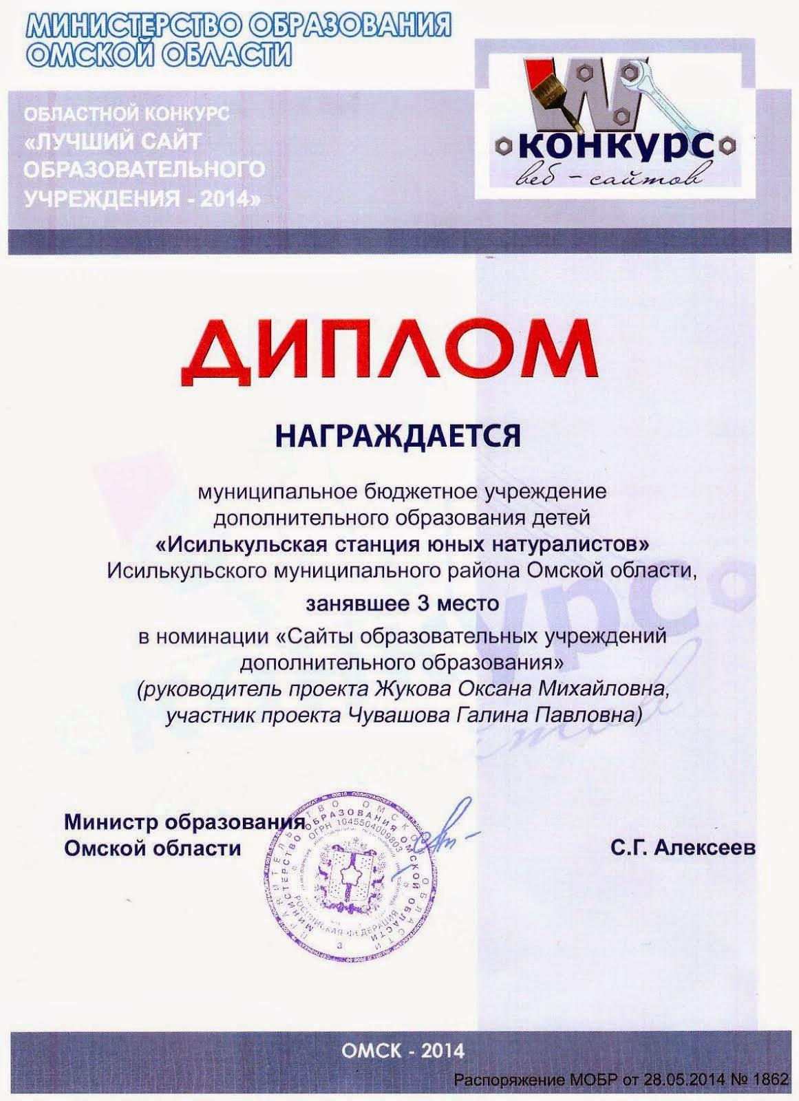 Призеры областного конкурса