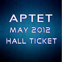 APTET 2012 Hall ticket
