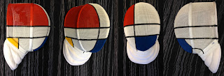 Mondrian fencing mask