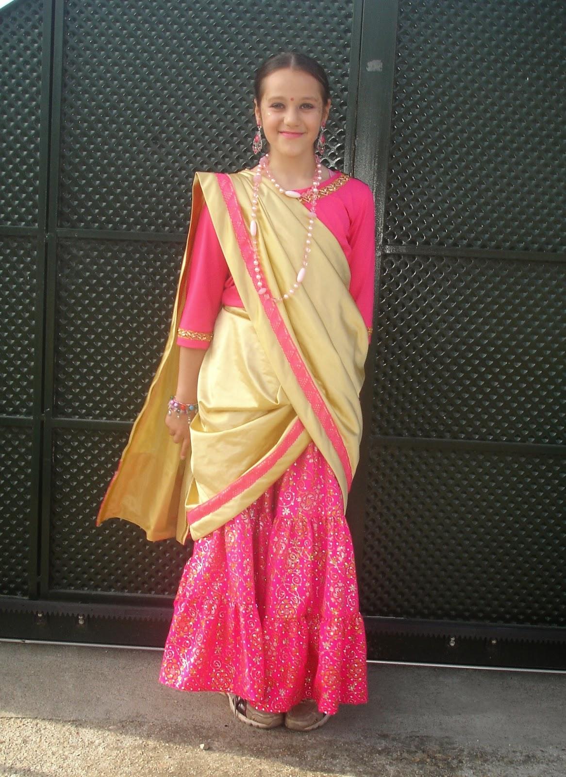 Vestido hindu mujer