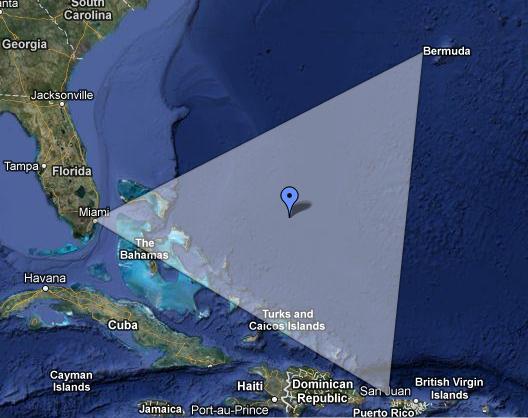 Segitiga Bermuda terletak di lepas pantai Selatan-Timur Amerika ...