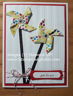 Card made with Stampin'UP!'s Pinwheel Sizzlet Die