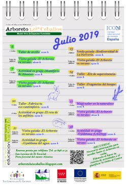 Próximas actividades: julio