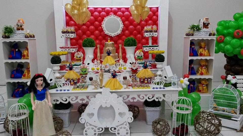 decoracao festa branca de neve provencal: Decoração infantil TEM FESTAS- 34236880: BRANCA DE NEVE PROVENÇAL