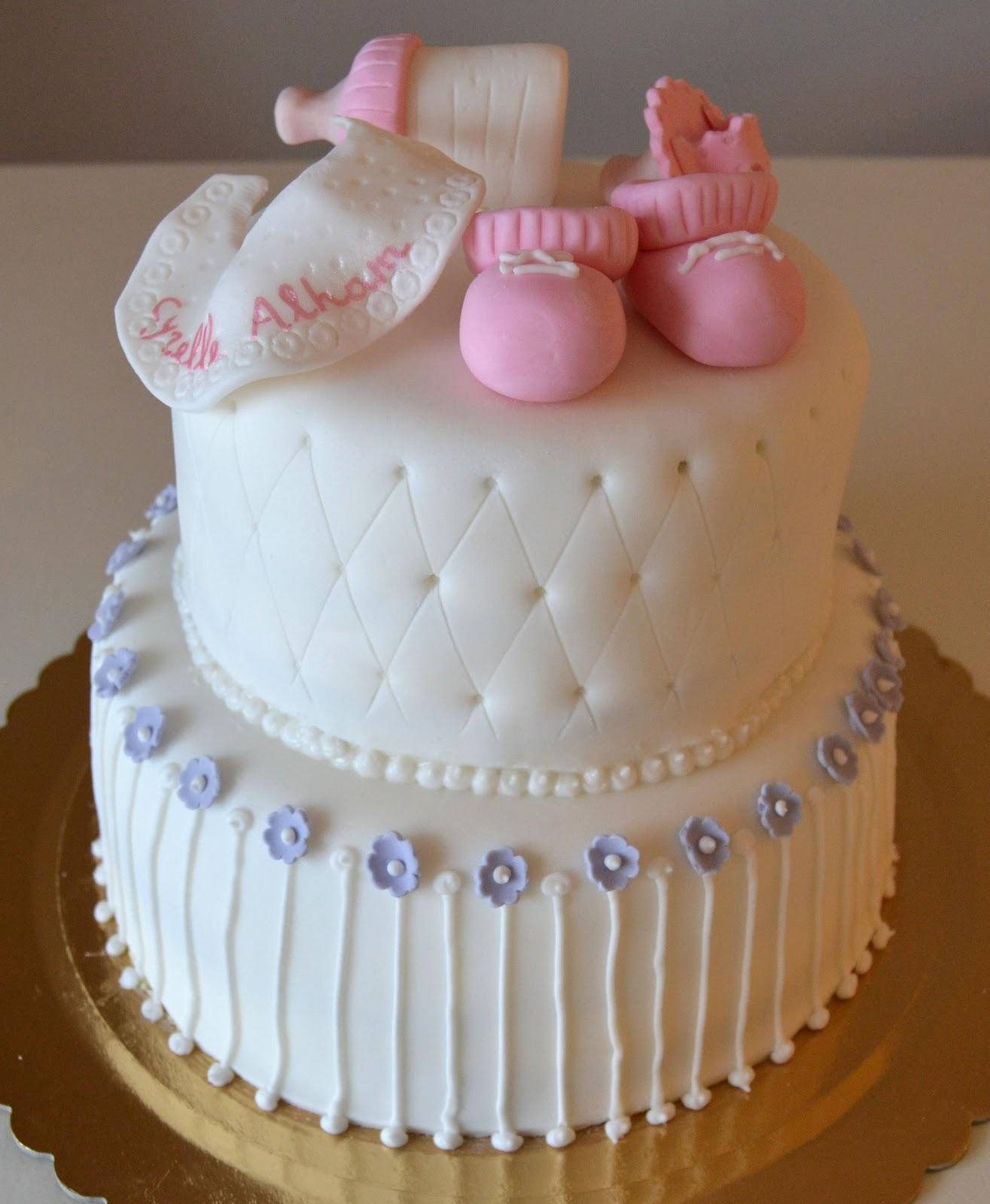 Famoso Buccia's Cakes: Torta Battesimo Bimba YE66