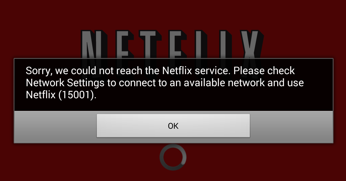 My Netflix keeps say sorry we could not reach the Netflix ...