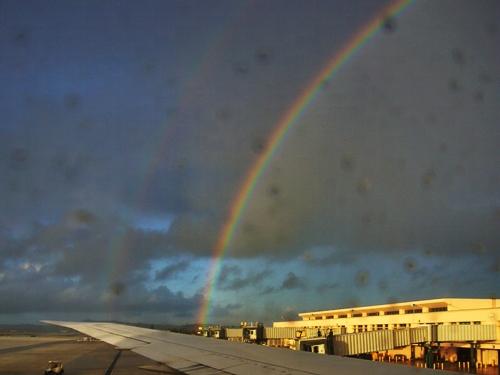 グアム島 ダブルレインボー