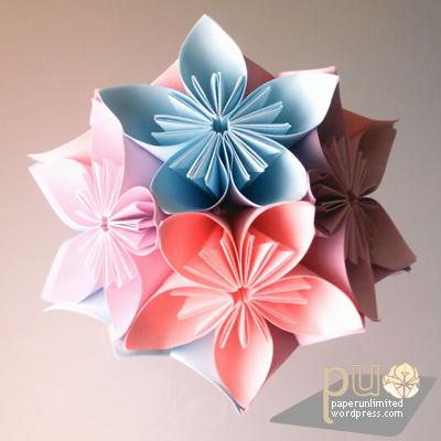 Origami modular  Kusudama Origami Kusudama