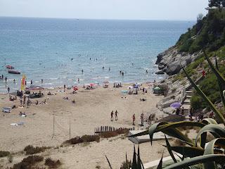 beach between rocks - Tarragona