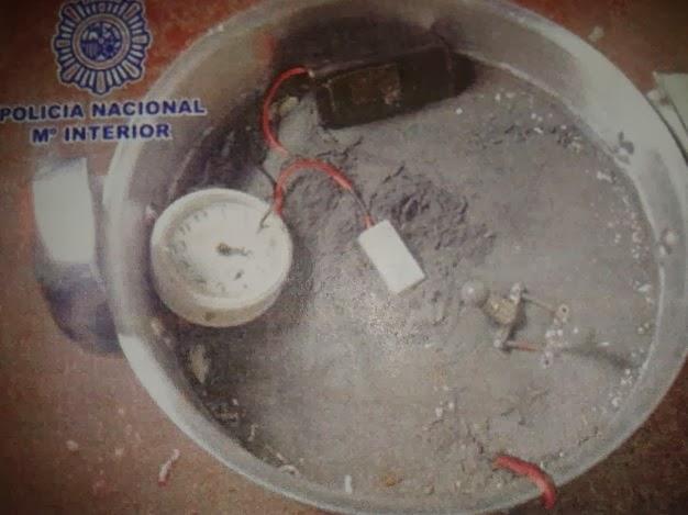 Explosivo hallado en el domicilio de Roberto Rodríguez Fiallega tras su detención