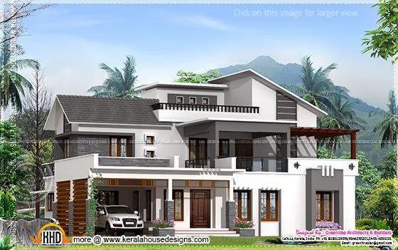 Modern house, Calicut, Kerala