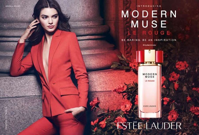 Kendall Jenner poses for the Estee Lauder 'Modern Muse Le Rouge' Fragrance Campaign