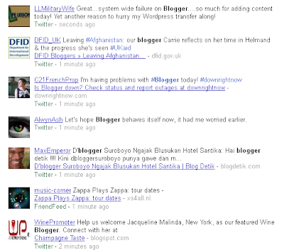 Blogger Realtime