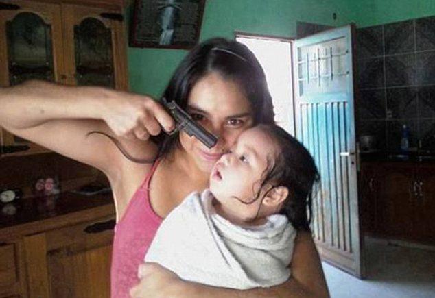 baby, gun, funny haha!!!