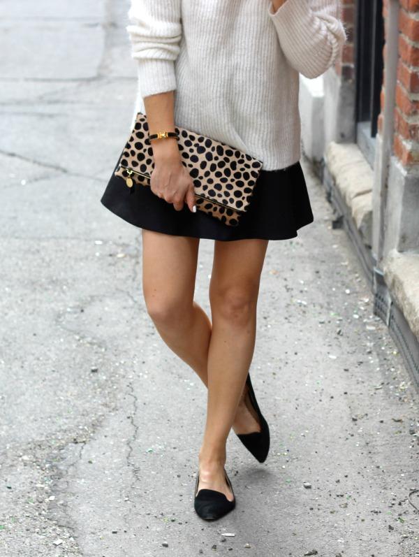Black Fluted Skirt