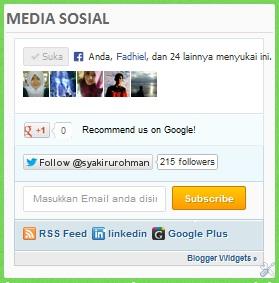 Widget Media Social ala mashable